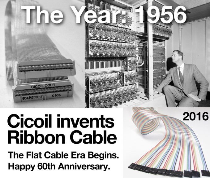 The Flexible IDC Ribbon Cable Celebrates its 63rd Year